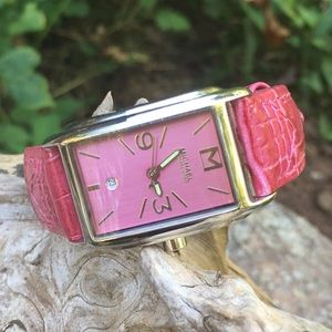 Michael Kors Silver/Pink Leather Date Watch NWT!